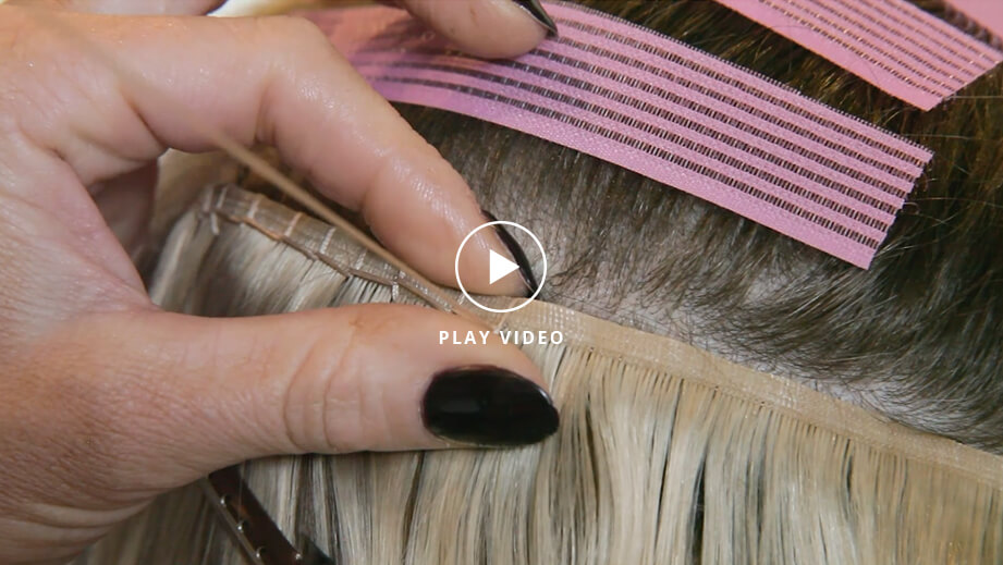 video - Euro Invisi-Weft Extensions